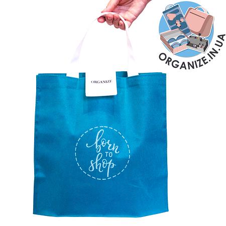 Складная сумка для покупок/Shopper bag эконом (лазурь)