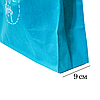 Складная сумка для покупок/Shopper bag эконом (лазурь), фото 3