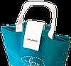 Складная сумка для покупок/Shopper bag эконом (лазурь), фото 5