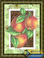 Схема для частичной вышивки бисером - Натюрморт персики на ветке, Арт. НБч4-71-1