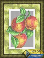 Схема для полной вышивки бисером - Кухонный натюрморт персики на ветке, Арт. НБп4-70