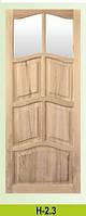 Двери из сосны филенчатые под стекло , доставка из Львов