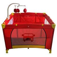 Двухуровневый детский манеж Bambi G400-3 (красный), фото 1
