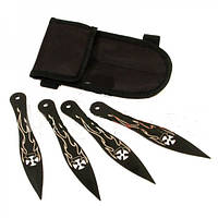 Набор метательных ножей 4в1