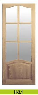 Двери сосновые неокрашенные