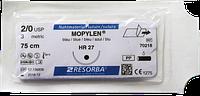 Мопилен (MOPYLEN)3/0 колющая HR27 нить 75см