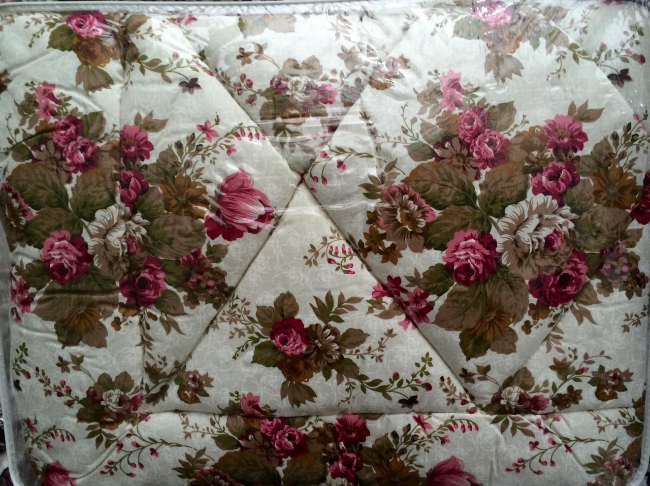 Стильное двухспальное одеяло овечья шерсть + сатин новинка сезона