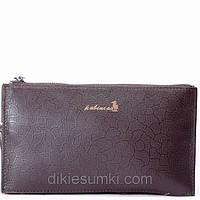 Мужская сумка борсетка Kabinias кожа темно - коричневого цвета