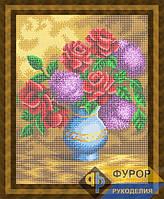 Схема для полной вышивки бисером - Сирень и розы в вазе, Арт. НБп3-92