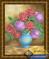 Схема для частичной вышивки бисером - Сирень и розы в вазе, Арт. НБч3-93