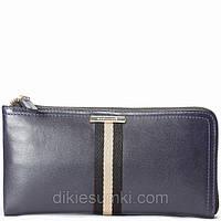 Мужская сумка борсетка Kabinias кожа темно - синего цвета