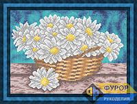 Схема для вышивки бисером - Ромашки в корзине, Арт. НБч4-83-1