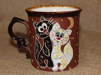 Чашка керамическая «Коты худые»