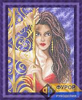 Схема для вышивки бисером - Девушка возле калитки, Арт. ЛБп3-32