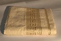 Полотенце махровое 100*150 люксового качества с золотым рисунком