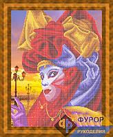Схема для вышивки бисером - Венецианская завораживающая маска, Арт. ЛБч3-45