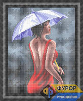 Схема для полной вышивки бисером - Девушка под зонтиком, Арт. ЛБп3-46