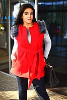 Жилетка женская с втачными карманами в батале, фото 1