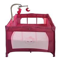 Детский манеж Bambi Розовый (G 400-8) на колесиках
