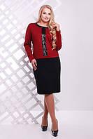Трикотажное платье с пайетками  Амира ТМ Таtiana бордо  54-60  размеры