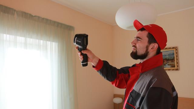 Тепловизор проверка пластиковых окон фото Тепловик