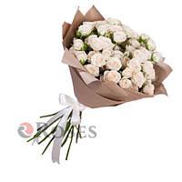"""Мон-Блан"" 15 кустовых роз"
