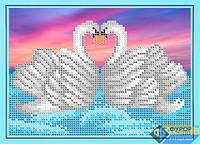 Схема для вышивки бисером - Пара лебедей, Арт. ДБч5-059