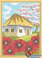 Схема для полной вышивки бисером - Домик в селе, Арт. ДБп5-082