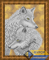 Схема для вышивки бисером - Пара волков, Арт. ЖБп3-086-1