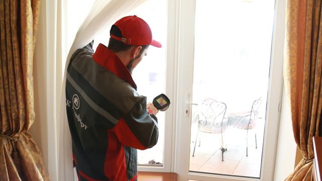 Проверяем окна тепловизором фото Тепловик