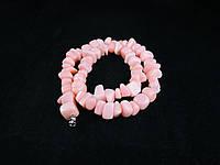 Крошка из розового агата 45см,крупная