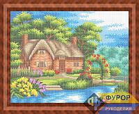Схема для вышивки бисером - Домик у озера, Арт. ПБп3-048