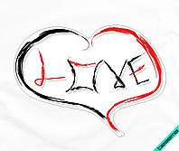 Аппликация, наклейка на ткань Сердце love [7 размеров в ассортименте]