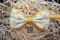 Галстук бабочка ручной работы - Yellow Banana