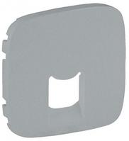 Лицевая панель телефонной / компьютерной RJ11/RJ45 розетки алюминий 755417 Legrand Valena Allure