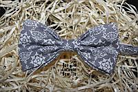 Галстук бабочка ручной работы - Grey Gorgeous