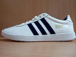 Кроссовки мужские Adidas Gazelle Адидас Газели белые