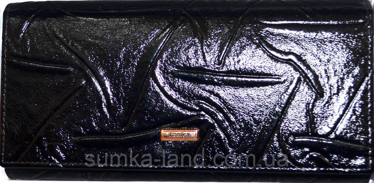 Женские кошельки из натуральной кожи Danica (черный)