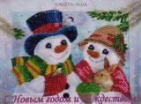 Набор для вышивки бисером Снеговички