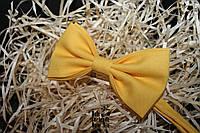 Галстук бабочка ручной работы - Yellow Classic