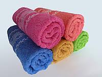 Махровое лицевое полотенце 100х50см (плетенка)