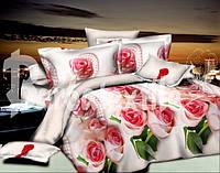 """Полуторный комплект постельного белья """"Ожерелье роз""""."""