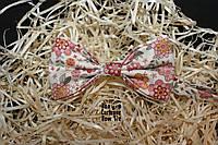 Галстук бабочка ручной работы - Cream Pastel Flower