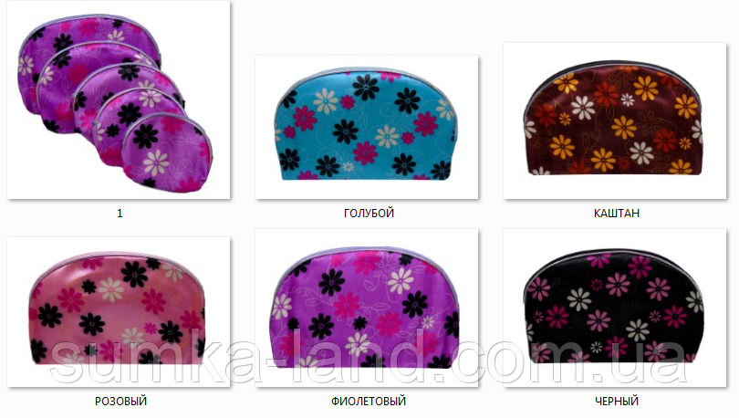 Женские косметички матрешки 5в1 (черный/розовый)