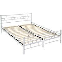 Белая металлическая кровать 160 x 200