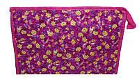 Женские косметички из текстиля размер 27х18 (8 цветов) ФУКСИЯ