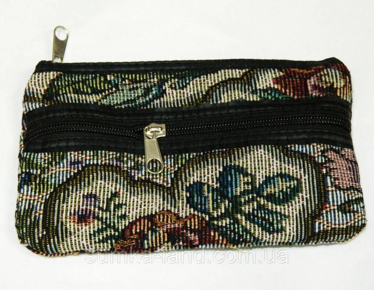 Женские косметички из текстиля маленькие (гобилен)
