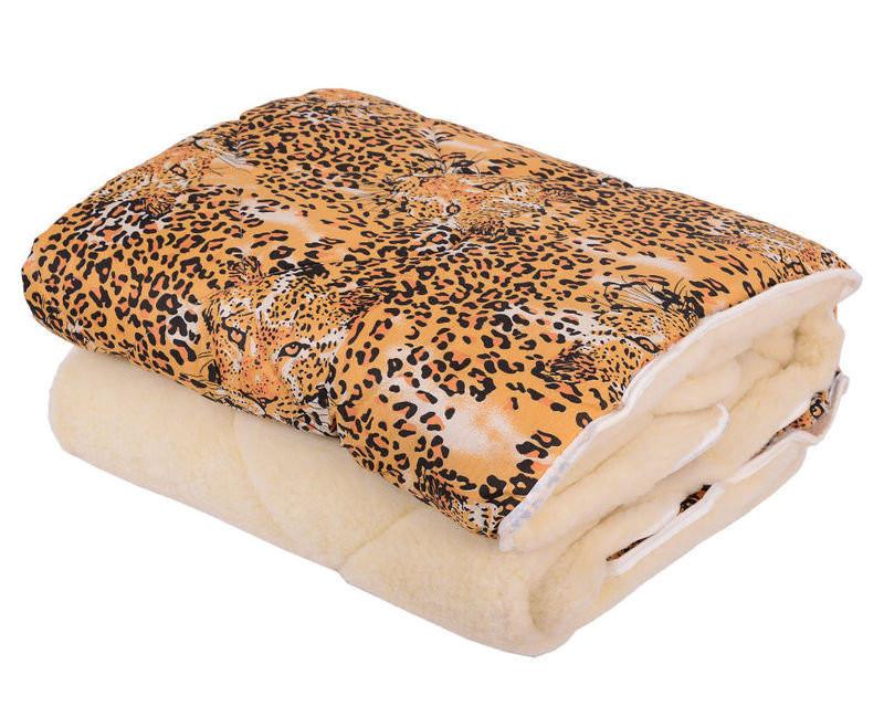 Недорогое одеяло овечья шерсть с леопардовым принтом оптом и в разницу
