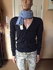 Кофта мужская стильная серая синяя брендовая Antony Morato, фото 3
