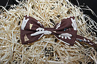 Галстук бабочка ручной работы - Brown Polar Bear